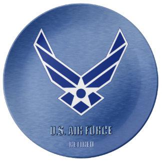 U.S. Flygvapen avgått porslin pläterar