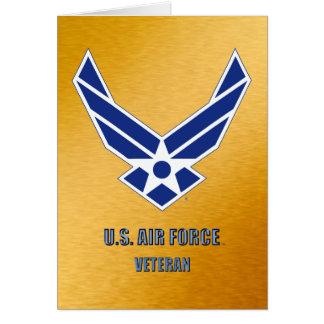 U.S. FlygvapenVetkort Hälsningskort