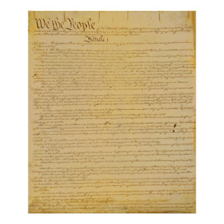 U.S. Konstitutionaffisch Poster