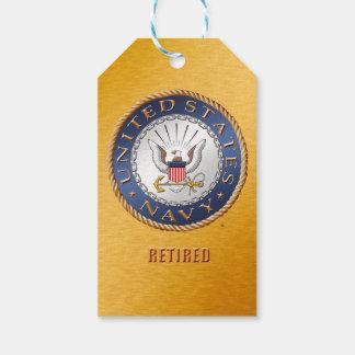 U.S. Marin avgådd gåvamärkre Presentetikett