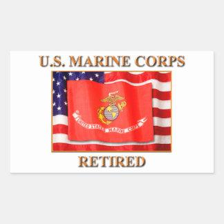 U.S. Marinkorpraler dina beställnings- Rektangulärt Klistermärke