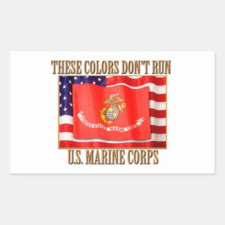 U.S. Marinkorpralrektangelklistermärkear Rektangulärt Klistermärke
