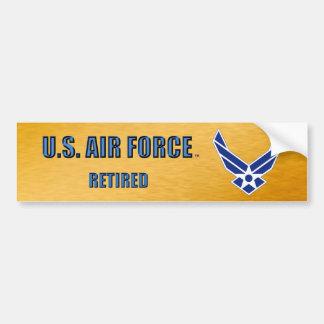 U.S. Pensionerad bildekal för flygvapen