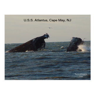 U.S.S. Atlantus frakt som är ny - jerseyvykort Vykort
