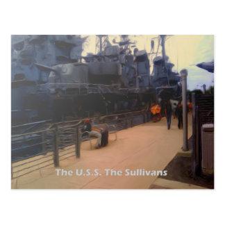 U.S.S.EN. Sullivansen (DD-537) Vykort