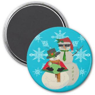 U väljer den 1st baby för färgsnögubben första jul magnet
