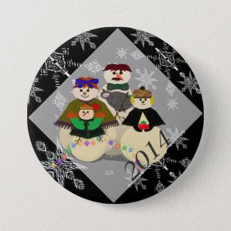 U väljer den 3rd baby för färgsnögubben första jul mellanstor knapp rund 7.6 cm