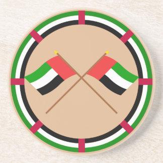UAE och Fujairah korsad flaggor Underlägg Sandsten