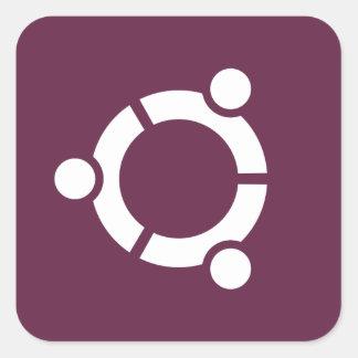 Ubuntu lilor fyrkantigt klistermärke