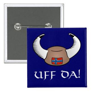 Uff Da! Viking hatt Standard Kanpp Fyrkantig 5.1 Cm