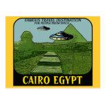 UFO ÖVER DEN CAIRO EGYPTENEN RESER DESIGN VYKORT