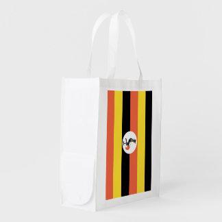 Uganda flagga återanvändbar påse
