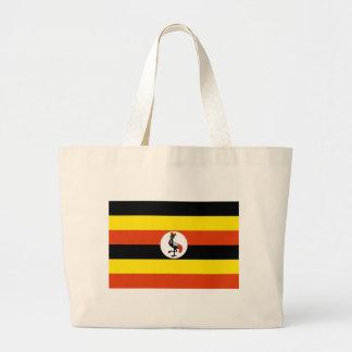 Uganda flagga jumbo tygkasse