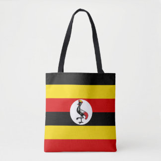Uganda flagga tygkasse