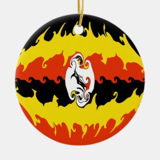 Uganda Gnarly flagga Julgranskulor