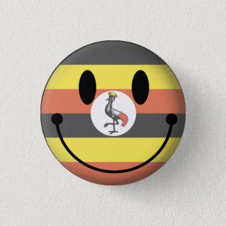 Uganda Smiley Mini Knapp Rund 3.2 Cm