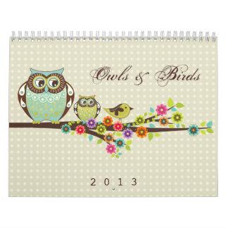 Uggla- & fågelkalender kalender