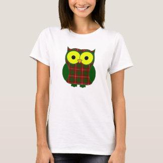 Uggla för Crawford Tartanpläd T Shirt