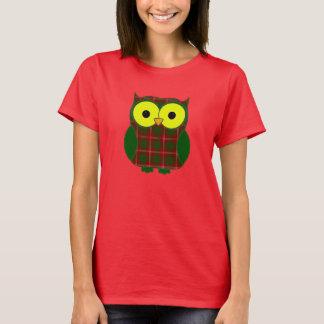 Uggla för Crawford Tartanpläd T-shirts