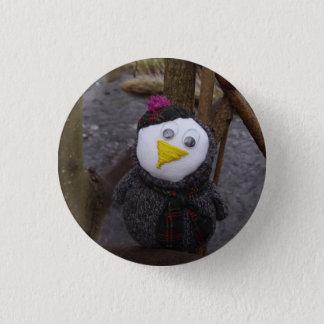 Uggla i ett träd mini knapp rund 3.2 cm