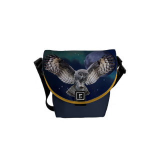 Uggla i flyg messenger bag