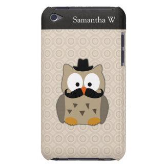 Uggla med mustasch och hatten iPod touch Case-Mate skydd