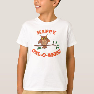 Uggla-nolla-ween - anpassadeHalloween T-tröja Tröja