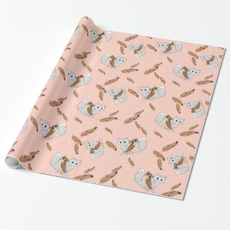 uggla- och kissegåvasjal presentpapper