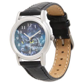 Uggla och natthimmel armbandsur