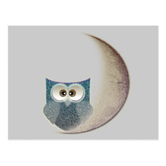 uggla på månen vykort