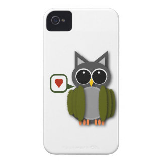 Ugglakärlekblackberry fodral iPhone 4 fodral