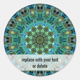 Ugglan synar kaleidoscopen runt klistermärke