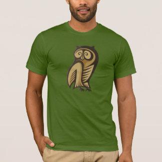 Ugglasymbolfärg Tshirts