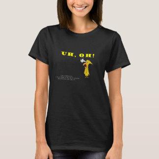 Uh Oh! Gul fågel T-shirts