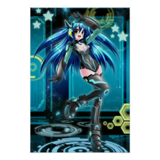 Uk-Anime knyter kontakt den Mizuki affischen Poster