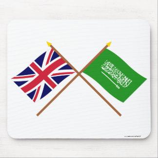UK och Saudiarabien korsad flaggor Musmatta