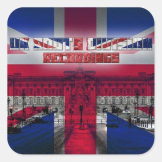 UK rotar uppdelningsinspelningar Fyrkantigt Klistermärke