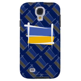 Ukraina borstar flagga galaxy s4 fodral