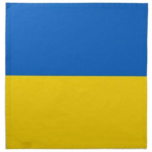 Ukraina flagga på den MoJo servetten Servett