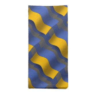 Ukraina som vinkar flagga tygservett