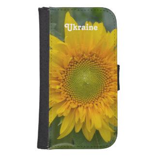 Ukrainska solrosor plånboksfodral för samsung galaxy s4