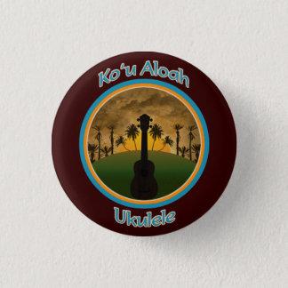 Ukulelen för Ko ` u Aloah knäppas Mini Knapp Rund 3.2 Cm