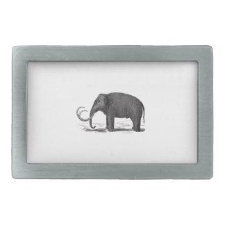 Ullig kolossal Pre-Historisk elefant