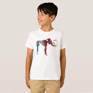 Ullig kolossal skelett- konst t-shirts
