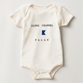 Ulong kanaliserar palauisk alfabetiskdykflagga body för baby