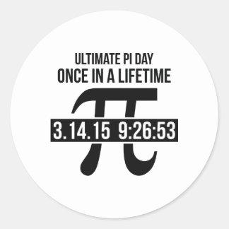 Ultimat Pi-dag Runt Klistermärke