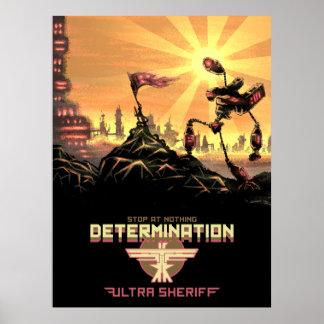 Ultra sheriff - beslutsamhetaffisch poster