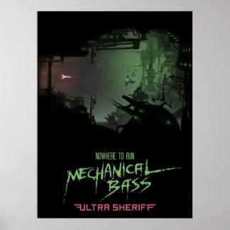 Ultra sheriff - mekanisk bas- affisch poster