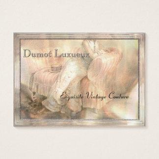 Ultra-tjock Dumot Luxueux vintage Visitkort