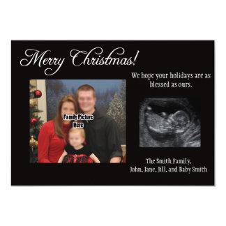 Ultrasound för julkortgravidmeddelande 12,7 x 17,8 cm inbjudningskort